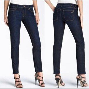 DL1961 Angel Mid Rise Skinny Ankle Jeans, Nile, 24